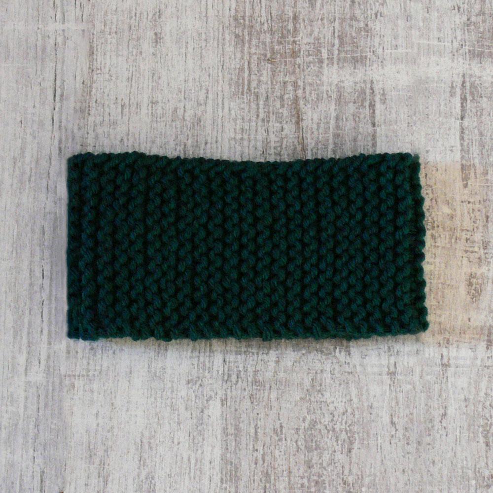 Opaska na uszy i czoło - ręcznie robiona na drutach - ALOM