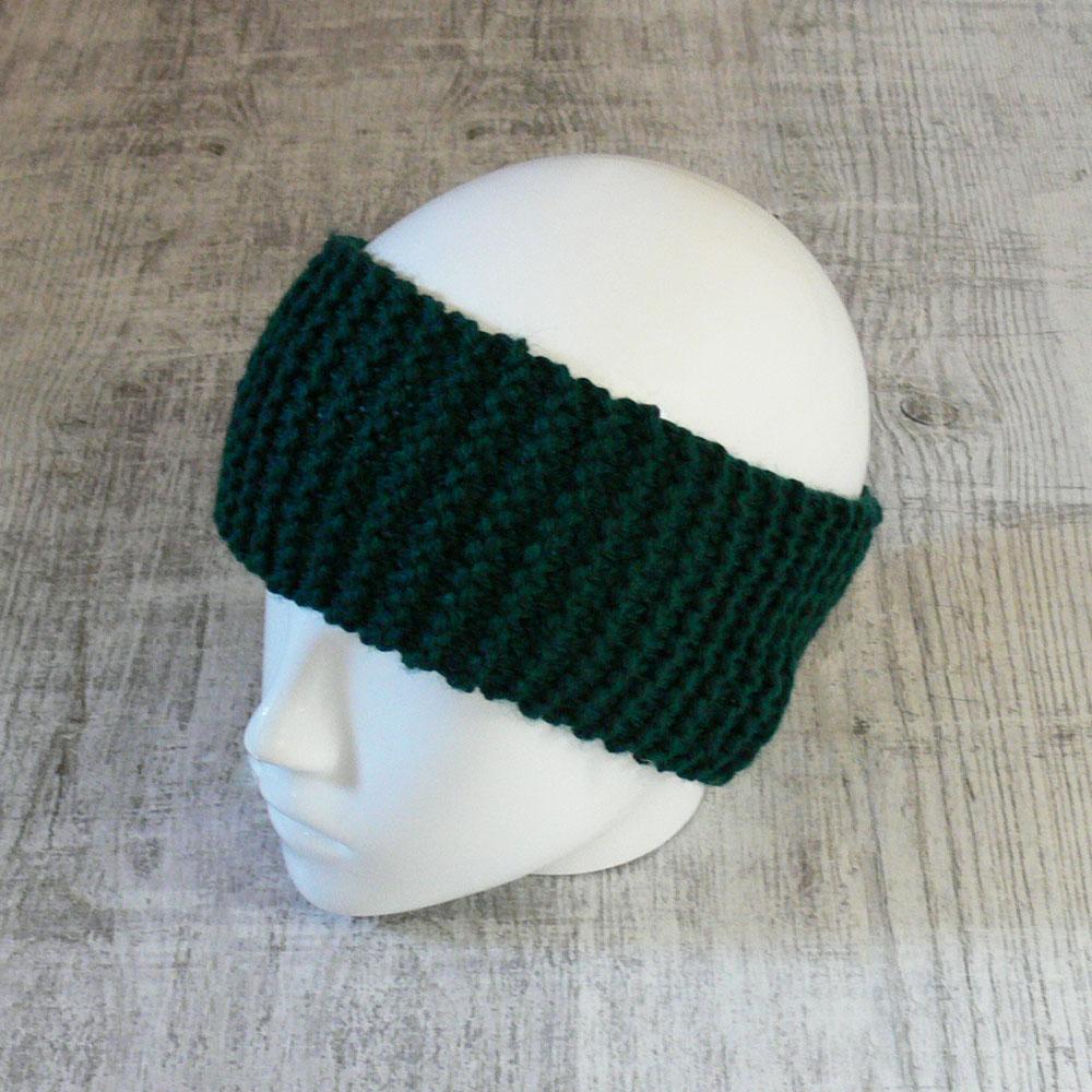 Szeroka opaska na głowę - z wełną - handmade - ALOM
