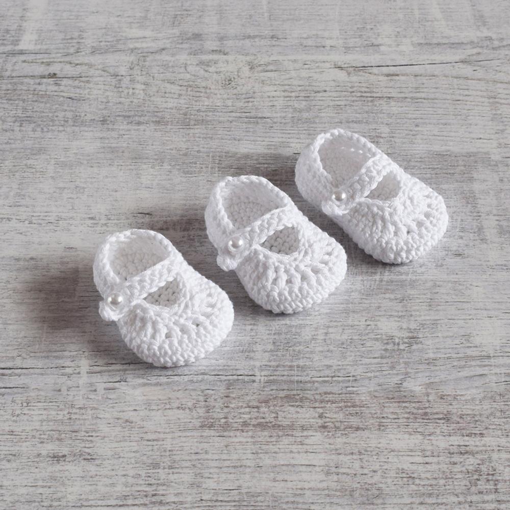 Buciki dla noworodka - rękodzieło - na szydełku - ALOM