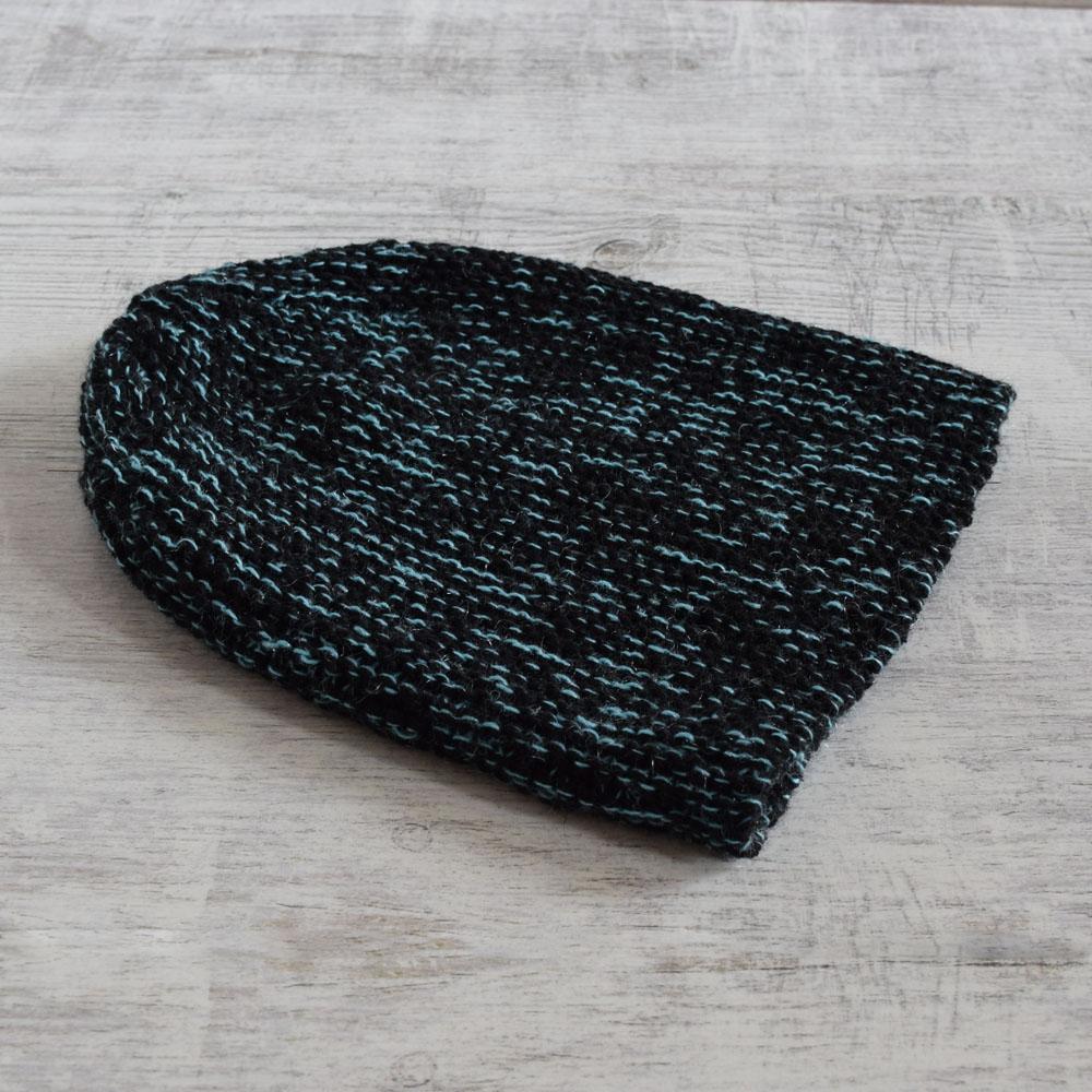 Czapka z wełną merino - robiona ręcznie na drutach - ALOM