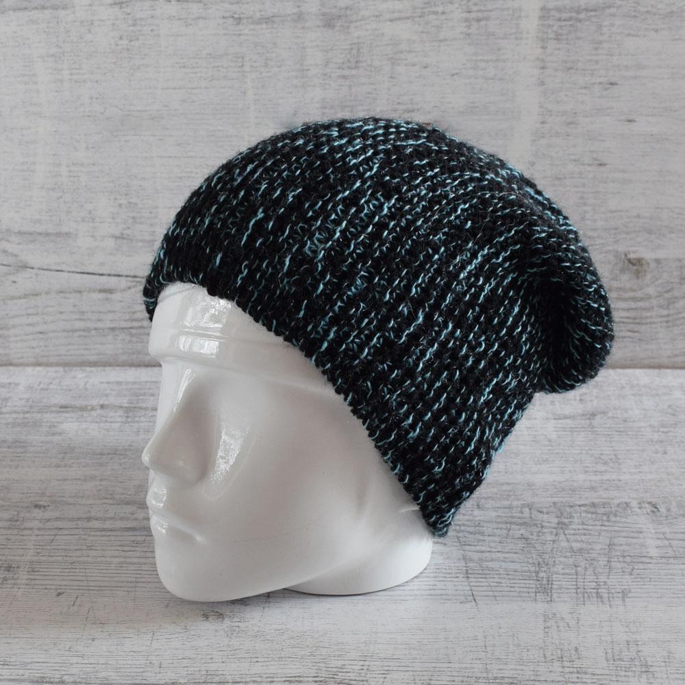 Ręcznie robiona czapka na zimę - slouchy hat - ALOM