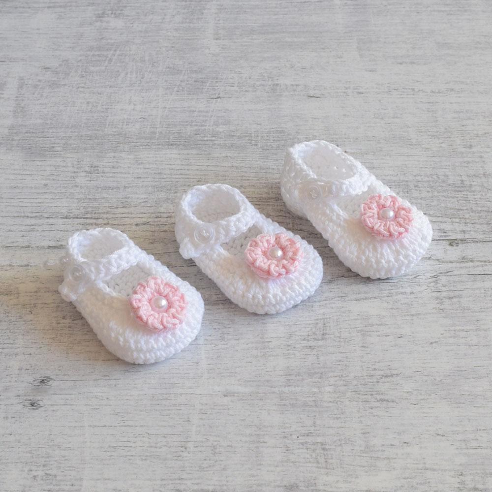 Balerinki - buciki dla noworodka - chrzest - ALOM