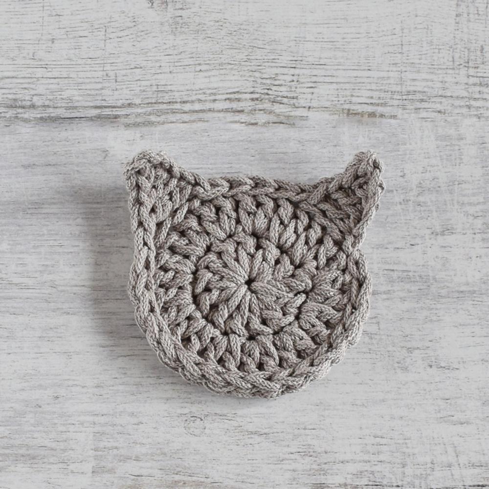 Podkładka ręcznie zrobiona ze sznurka - kot - ALOM