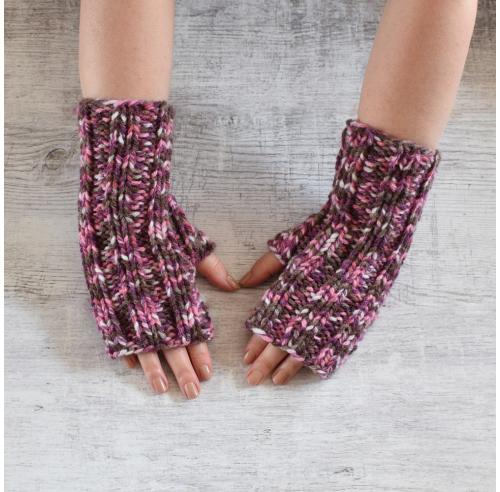 Mitenki - rękawiczki bez palców - rękodzieło - ALOM