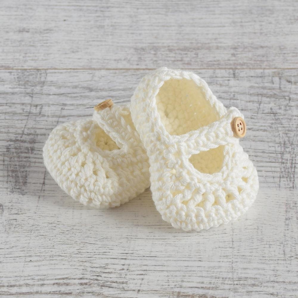 Ręcznie robione buciki - baleriny -dla noworodka - ALOM