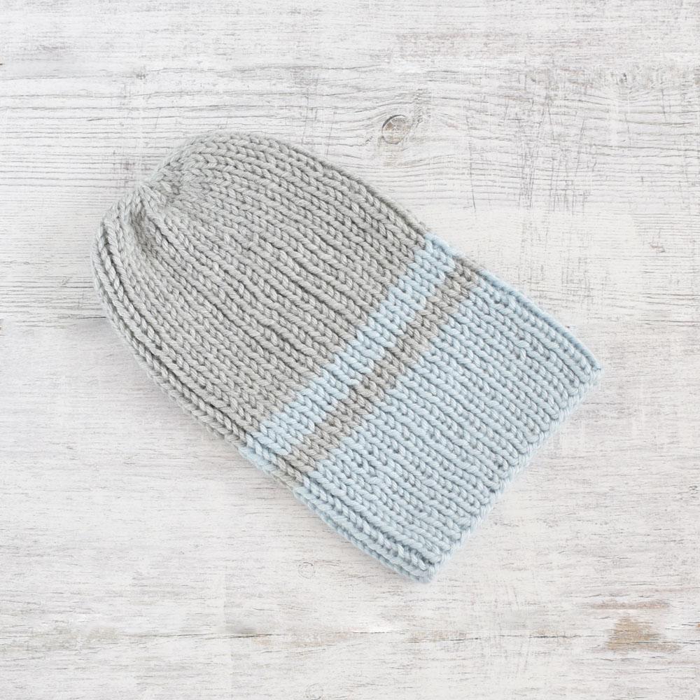 Wywijana czapka na zimę - unisex - handmade - ALOM