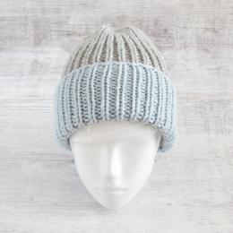 Czapka unisex - na zimę - ręcznie robiona na drutach - ALOM