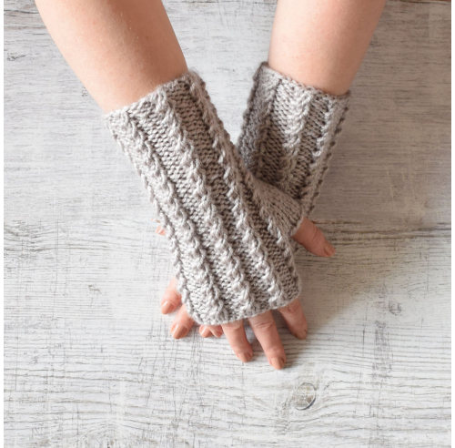 Mitenki - rękawiczki bez palców - glamour - handmade - ALOM