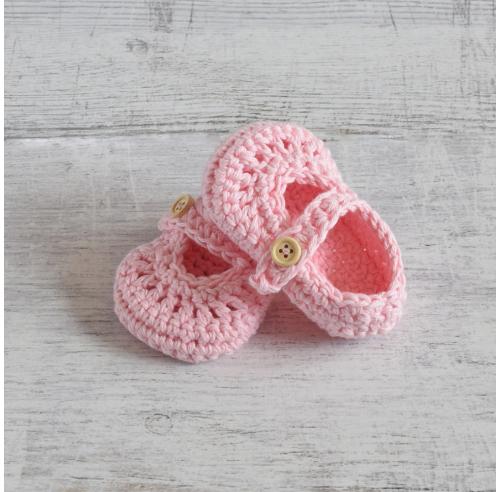 Buciki niemowlęce - ręcznie robione - balerinki - ALOM