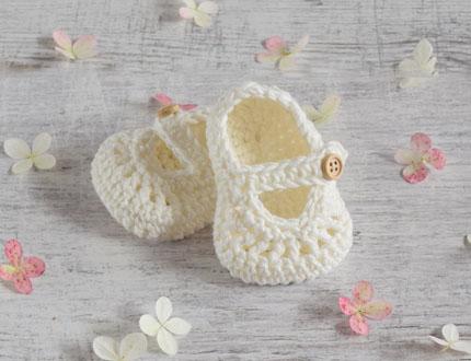 Buciki niemowlęce - buciki szydełkowe - Alom