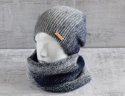 Czapki robione ręcznie na drutach ALOM