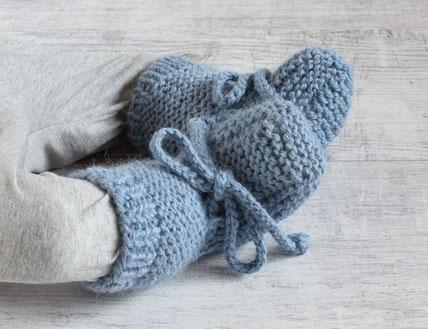 Wełniane buciki niemowlęce Alom
