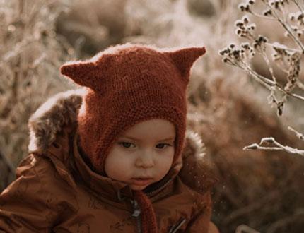 Czapeczka bonetka - kotek - - handmade - ALOM